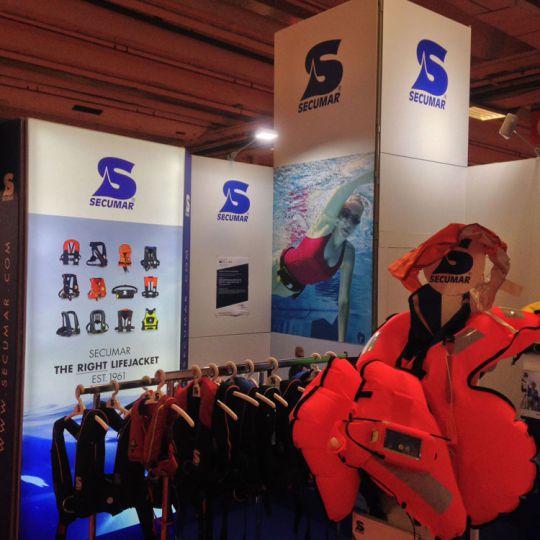 Stand Secumar salon nautique de Paris 2016