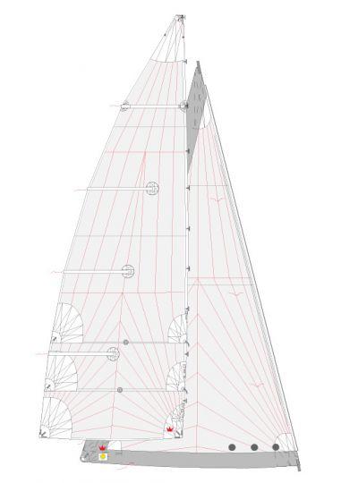 Coupe de voiles tri radial
