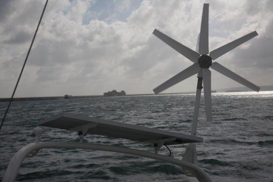 Moyens de charge en électricité sur un bateau