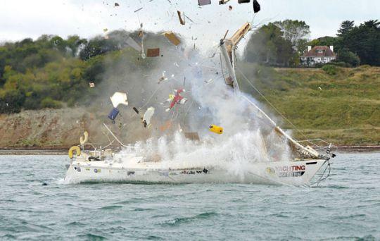 Risque du gaz à bord d'un bateau