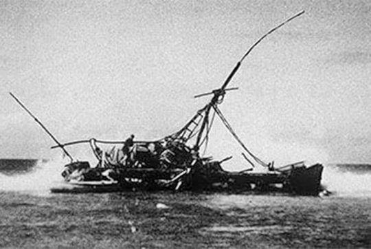 Thor Heyerdahl et le Kon-Tiki