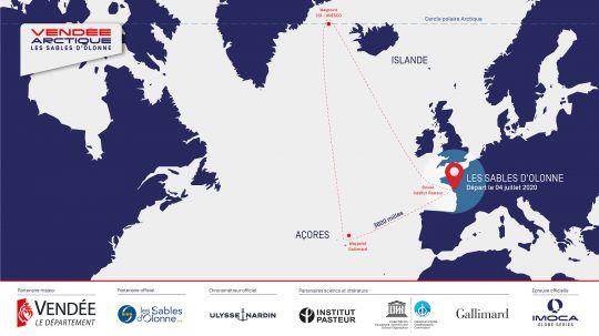 parcours de la Vendée-Arctique-Les Sables d'Olonne