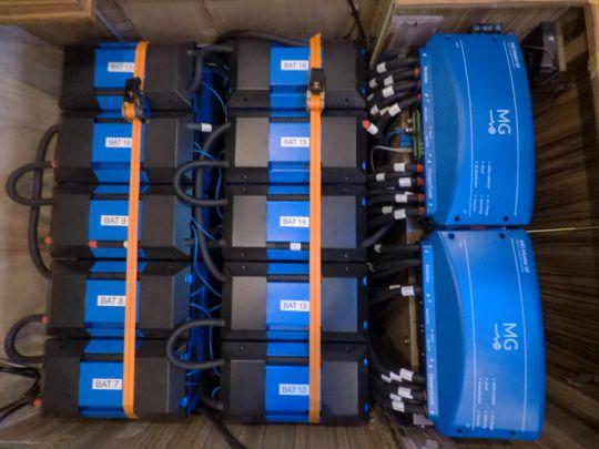 Le parc de batteries lithium.