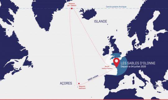 Le parcours de la Vendée-Arctique-Les Sables-d'Olonne
