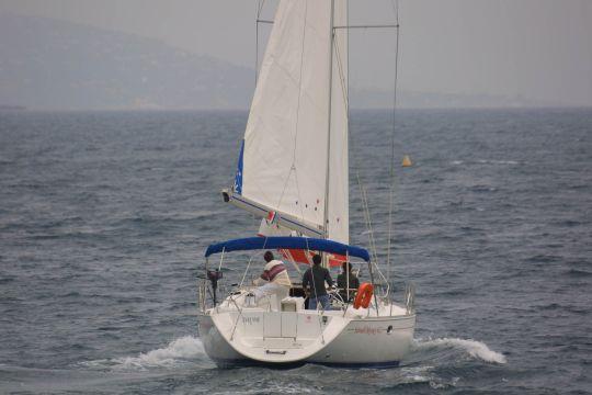 Face au vent le bateau ralenti fortement.