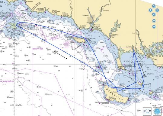 Une croisière de 150mn dans les îles de Bretagne Sud
