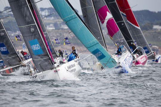 La flotte lors de l'édition 2019 de La Solitaire du Figaro © Alexis Courcoux