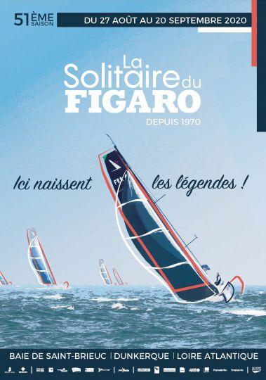 L'affiche de l'édition 2020 de La Solitaire du Figaro - © OC Sport Pen Duick