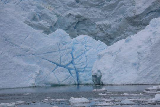 Glacier en Antarctique.