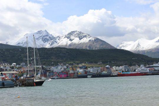 Le ponton de l'Afasyn, à Ushuaïa.