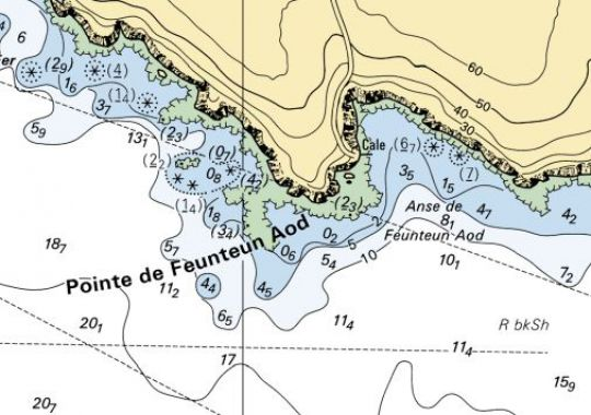Vous êtes en baie d'Audierne et la pointe de Feunteun Aod peut se traduire par....