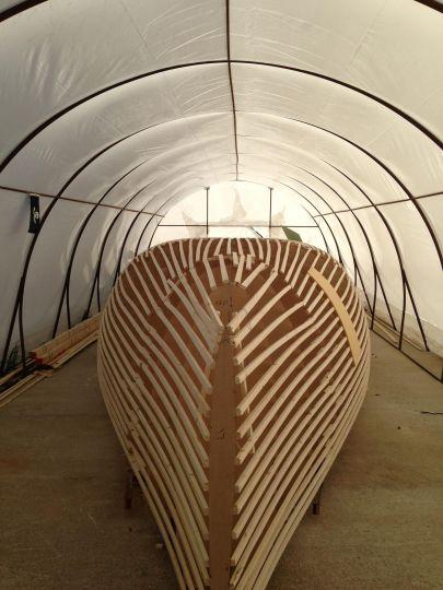 construction sur mannequin en bois