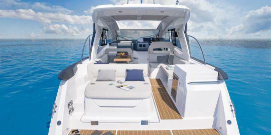 Le cockpit avec son bain de soleil