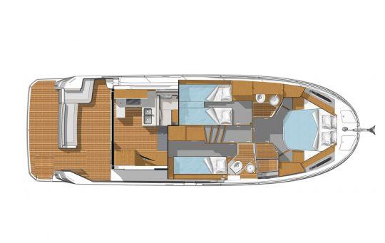 Plan d'aménagement du Swift Trawler 41
