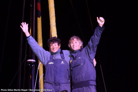 Bernard Stamm and Jean le Cam, victorious at Barcelona 2015