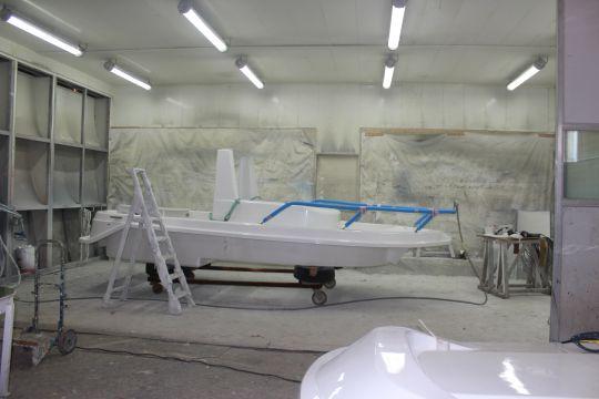 Moule White Shark au chantier d'Oléron