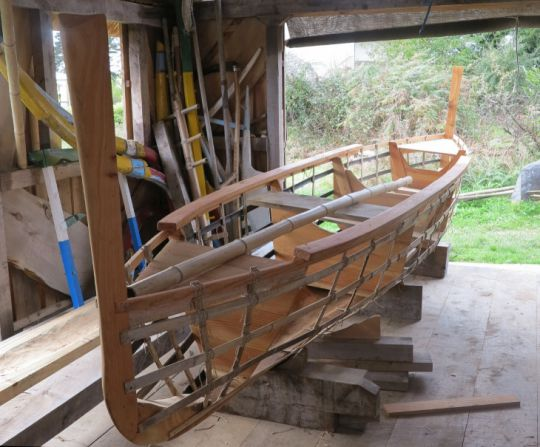 Structure du voilier Palatto d'Organic Boats