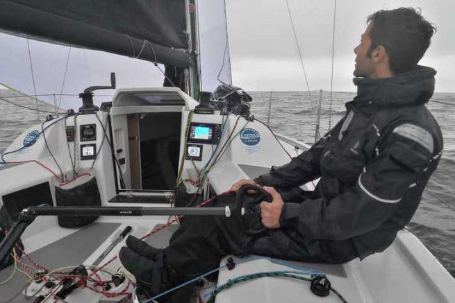 Navigation hivernale en mer baltique pour notre rédacteur Charly Fernbach