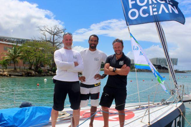 Le team Aïna Enfance et Avenir sur le Défi Atlantique 2019