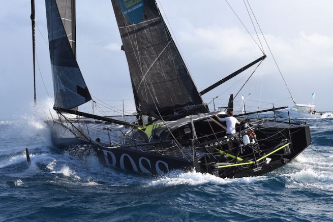 Alex Thomson sur Hugo Boss