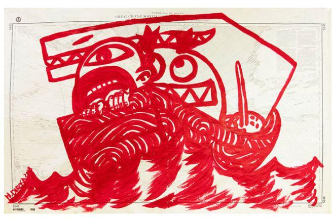 Carte dessinée par Hervé Di Rosa