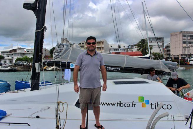 Loïck Fequet avant le départ du Défi Atlantique 2019