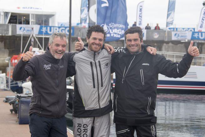 Le podium de la 3e étape de la Solitaire Urgo Le Figaro