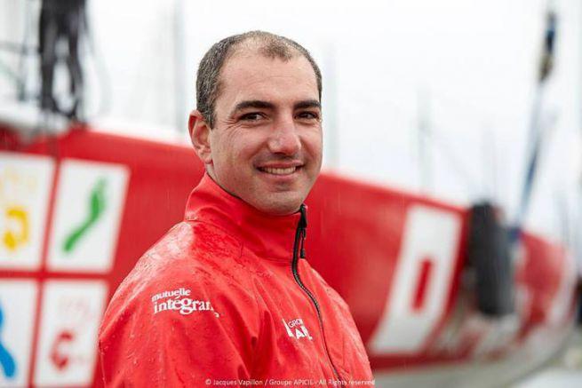 Damien Seguin, skipper de l'IMOCA Groupe Apicil