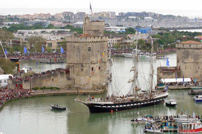 Le Belem dans le port de La Rochelle