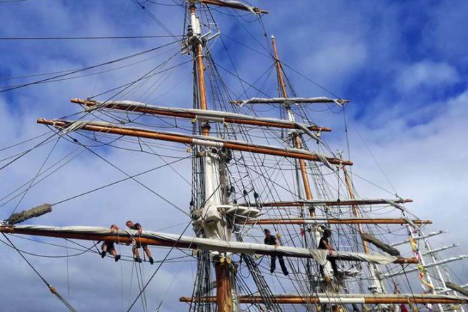 27 grands voiliers se sont rassemblés à Bordeaux, en plein centre ville