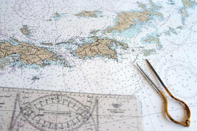 Impression en A0 sur du papier spécial «affiche» d'une carte des Iles Vierges.