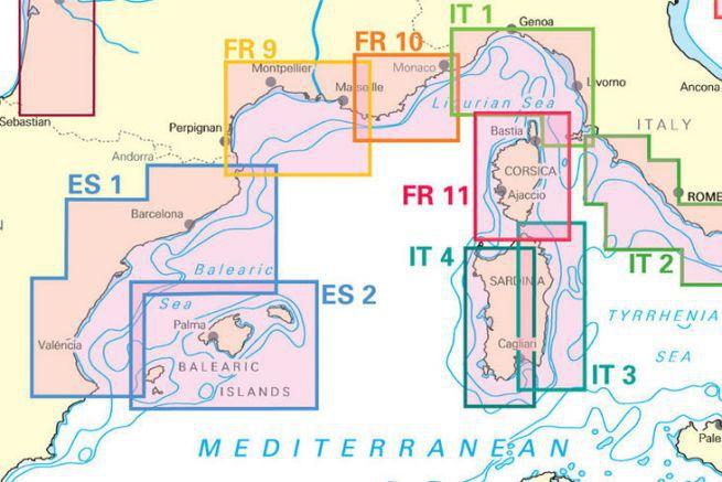 La couverture mediterranée de NV Charts