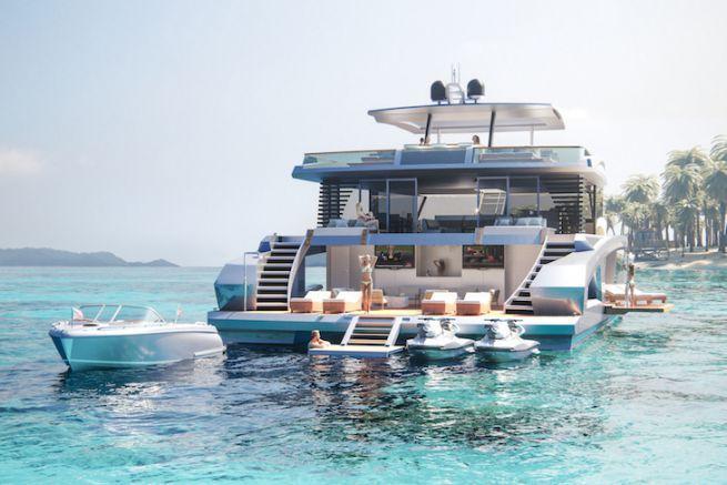 Oasis 80, un catamaran support