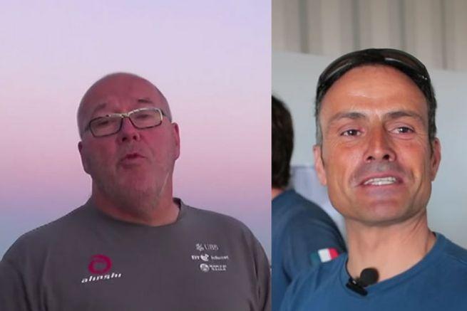 Christian Karcher et Franck Cammas