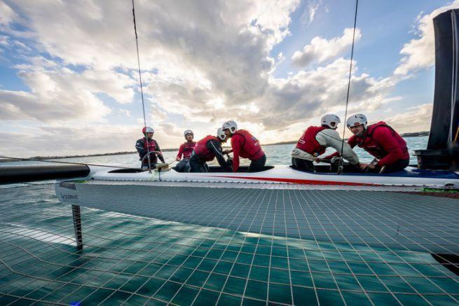 Les grinders à bord de Groupama Team France