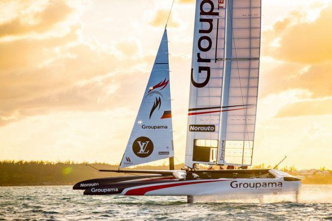 Le Class AC de Groupama Team France tire ses premiers bords