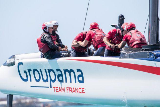 Thierry Fouchier, le régleur d'aile de Groupama Team France