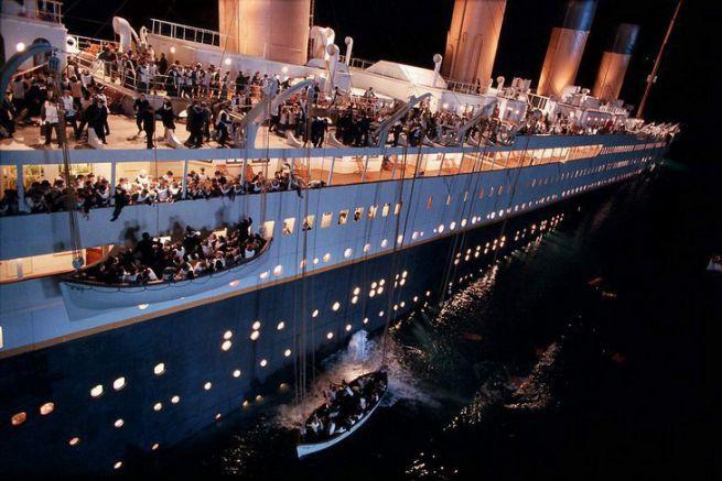 Naufrage du Titanic dans le film de James Cameron