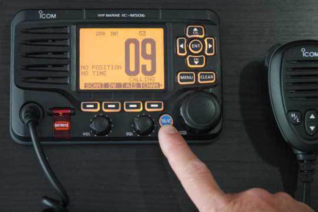 Accès directe au canal 16 sur une Icom IC-M506