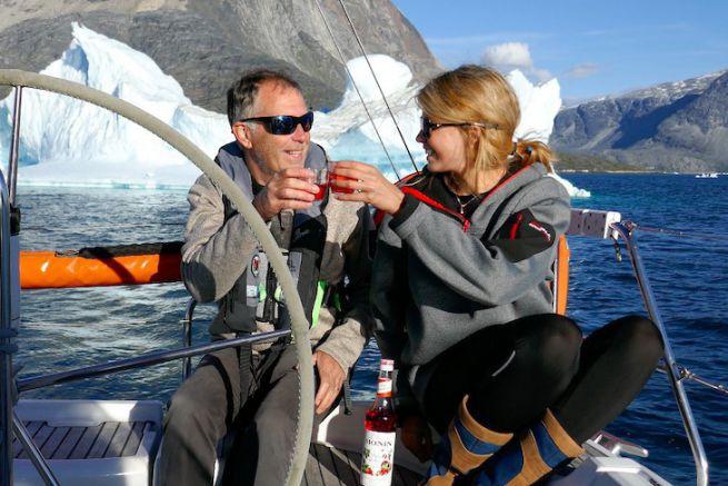 Christian et Clara Dumard lors de la première tentative du Passage du NO