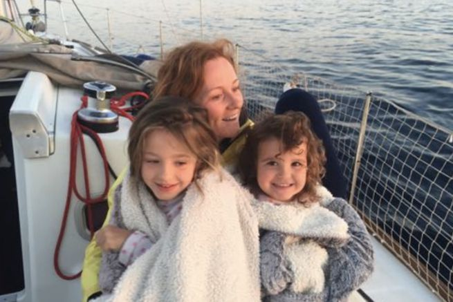 Mélanie, Lou et Lisa de Sailing Kalispera