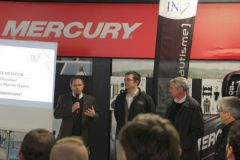 Max Métadier, directeur Mercury marine, Matthieu Taburet, administrateur de la FIN et Laurent Winisky, directeur de l'INB