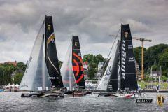 La flotte des GC32 sur le Bullitt GC32 Racing Tour