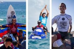 Johanne Defay, Jérémy Flores et Maxime Huscenot, victorieux sur leurs épreuves de surf international