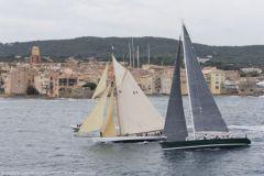 Défis de vieux gréements aux Voiles de Saint-Tropez