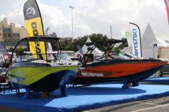 Le stand Scarab Boats sur le Grand Pavois