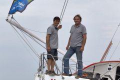 Transat Jacques Vabre, le duo Bertrand de Broc et Marc Guillemot sur l'Imoca MACSF