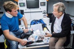 Conrad Colman et Jean-Yves Chauve, médecin de la course