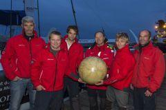 L'équipage d'Idec Sport sur le Trophée Jules Verne