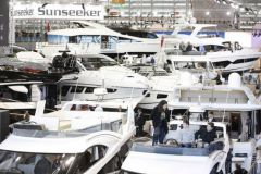 Le Hall 6 qui accueille les superyachts sur le Boot Dusseldorf
